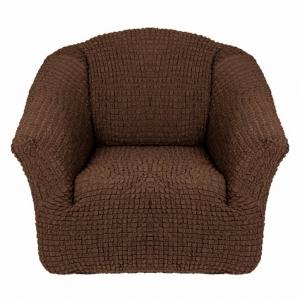 Чехол на кресло без оборки Шоколад