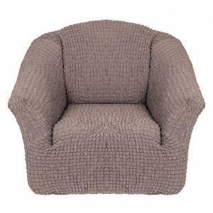 Чехол на кресло без оборки Какао