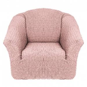 Чехол на кресло без оборки Пудра