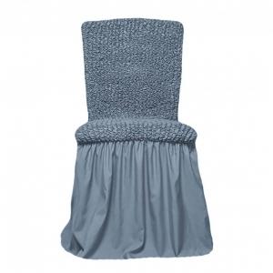 Чехол на стул с оборкой Серый