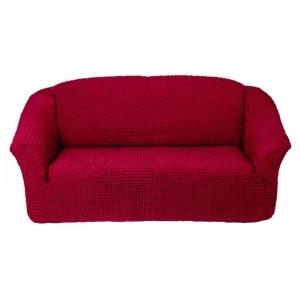 Чехол без оборки на 3-х местный диван Бордовый