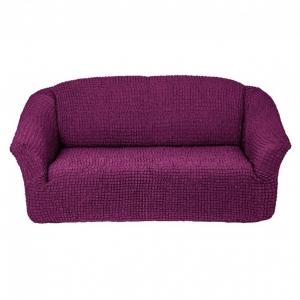 Чехол без оборки на 3-х местный диван Фиолетовый
