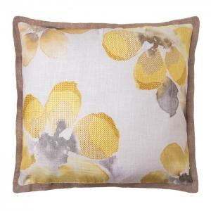 Подушка декоративная Цветы хлопок