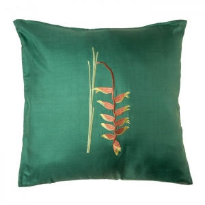 Подушка декоративная, вышивка цветок