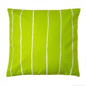 Подушка декоративная полосы зеленая хлопок