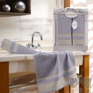 Комплект махровых полотенец из 2-х штук