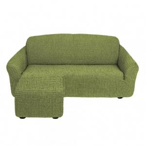 Чехол на угловой диван с оттоманкой Олива